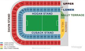 Gaa Tickets And Croke Park Seating Plan For Dublin V