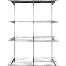 rubbermaid fasttrack garage 4 shelf 16 in x 48 in silver metallic wire