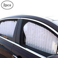ZATOOTO <b>Car</b> Side Window Sun Shade - Silver (<b>2 Pcs</b>) <b>Magnetic</b>