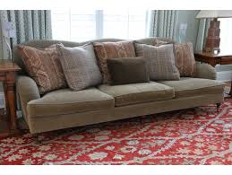 ralph lauren sofa. Ralph Lauren Wyland Sofa With Accent Pillows - Original Purchase Price $2660 | Black Rock Galleries