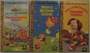 golden book video clic cartoon 3 vhs set poky little puppy s favorite stories merry