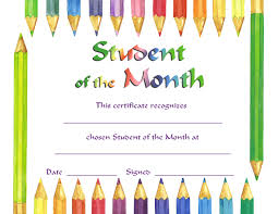 Star Of The Month Certificate Template Star Of The Month Certificate Template Mandegar Info