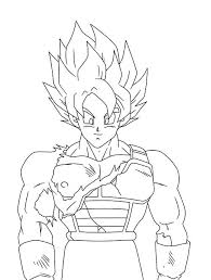 Coloriage Dragon Ball Super Goku Ultra Instinct Simple Jidiworkoutco