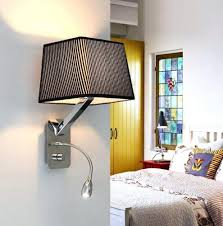 bedroom wall sconces for reading. Brilliant Wall Reading Wall Sconce Creative Fabric Sconces Band Switch Modern Led  Light Fixtures For Bedroom Lamp Inside L