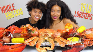 WHOLE KING CRAB MUKBANG