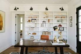 home office bookshelves. home office bookshelves farmhouse with black and white built in shelves wood desk b
