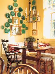 This Highceiling Dining Room Features A Collection Of Green - French country dining room set