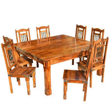 rustic square dining table. Solid Wood Rustic Square Dining Table Chairs Set G
