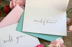 elegant bridal party ask cards