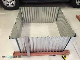 corrugated metal planter boxes
