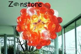large colored glass glass chandelier restaurant small lamps colored led blown