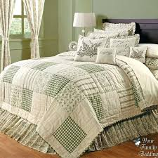 king bed quilts country green ivory fl patchwork twin queen cal king sized quilt bedding set