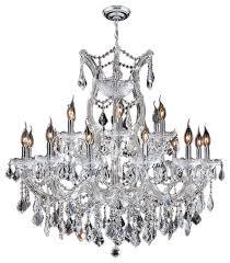 maria theresa 19 light chrome finish clear crystal chandelier 30 x