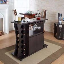 Home Bar Furniture Set Buffet Table With Wine Rack Servers Cabinet Mini Bars Pub