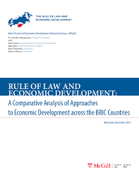 Rule of law and economic development