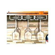 under the counter wine glass holder cabinet racks rack