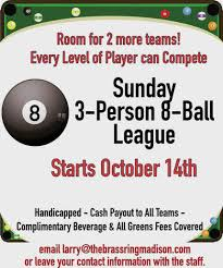 Brass Ring Pool Leagues The Brass Ring
