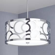 spotswood 3 light drum chandelier chrome