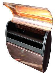 open residential mailboxes. City Ellipse Copper Wall Mount Mailbox Open View Open Residential Mailboxes R