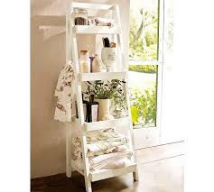 image of white towel stand