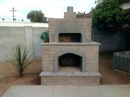 outdoor cooking fireplace brick pizza oven phoenix desert crest designs how to build an co
