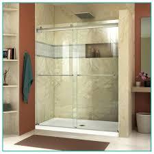 kohler levity shower door brushed nickel frameless bathtub
