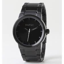nixon watches mens cannon all black watch polyvore nixon watches mens cannon all black watch