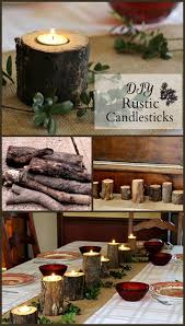 diy dining room decor.  Room DIY Dining Room Decor Ideas  Rustic Candlesticks Cool Projects  For Table With Diy R
