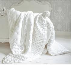 sumptuous ivory silk quilt bedspread