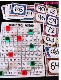 Blank 120 Chart Template Miss Giraffes Class Building Number Sense In First Grade