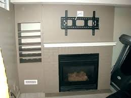 hanging gas fireplace a flat screen over mounting above wall mounted direct vent h