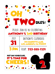 Mickey Mouse Clubhouse 2nd Birthday Invitations Oh Twodles Invitation Oh Twodles Birthday Invitation