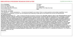 Sterile Processing Technician Cover Letters