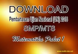 Soal dan kunci jawaban osk matematika smp 2019. Download Soal Dan Pembahasan Un Unbk Atau Unkp Matematika Smp 2018 Paket 1 M4th Lab