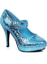 Light Blue Glitter Heels Cinderella Blue Glitter Womens Stiletto Costume Heels