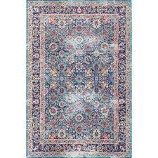 nuloom vintage persian floral isela blue  ft x  ft area rug