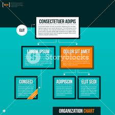 Modern Org Chart Modern Organizational Chart Template On Turquoise Background