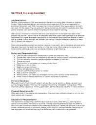 Cna Job Description Duties For Resume