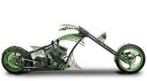 orange county choppers occ green web bike paul jr build
