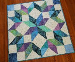 Best 25+ Quilted wall hangings ideas on Pinterest | Quilt patterns ... & Quilted Batik Wall Hanging or Table Topper in Blue Purple Teal and Green,  Carpenters Wheel Adamdwight.com