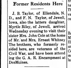 J B Taylor former resident 4 Oct 1922 TTRillinois pg5 - Newspapers.com