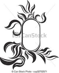 vintage frame design oval. Unusual Oval Vintage Frame For Your Design Or Tattoo. Vector Illustration. L