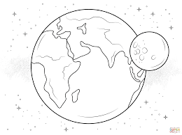 Small Picture Earth and Moon coloring page Free Printable Coloring Pages