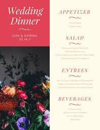 wedding drink menu. Pink Beige Floral Photo Wedding Food and Drink Menu Templates by Canva