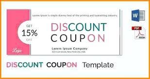 Coupon Format Template Coupons Design Templates Design Coupons Coupon Templates Free Word
