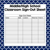 Classroom Sign In And Out Sheet Teaching Resources | Teachers Pay ...
