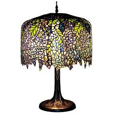 wisteria stained glass table lamp view images