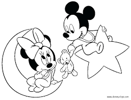 Minnie Mouse Coloring Pages Baby E Babies Mickey On For Toddlers And