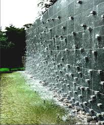 gorgeous outdoor water feature curved garden wall and brilliant