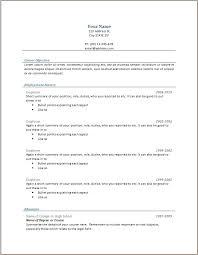 traditional chronological resume template elegant curriculum ...
